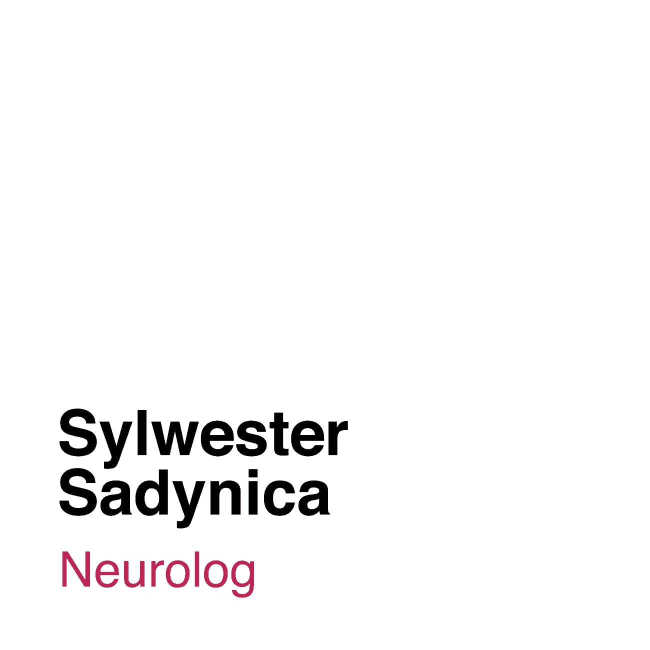Ilustracja z białym tłem i podpisem Sylwester Sadynica, który współpracuje z Medicana w roli lekarza neurologa.